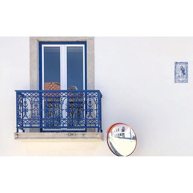 ~ reflections ~  #ericiera #portugal #wanderlust #traveler #beautiful #architecture #blue #white #tiles #crush #minimalism #minimalist #minimal #phornography
