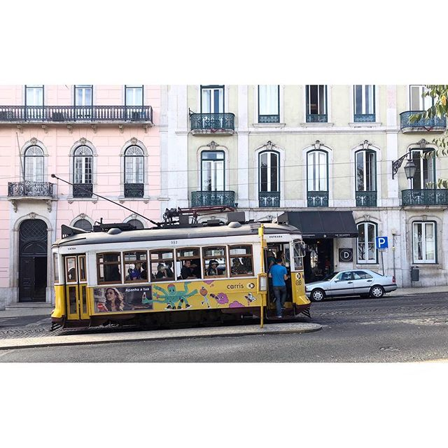 Another corner, another postcard... #lisboa #citycrush #portugal #somuchbeauty #streetstyle #wanderlust #travel #architecture #trams #pastel #minimalist #minimalism #phornography #minimalmood #minimallove