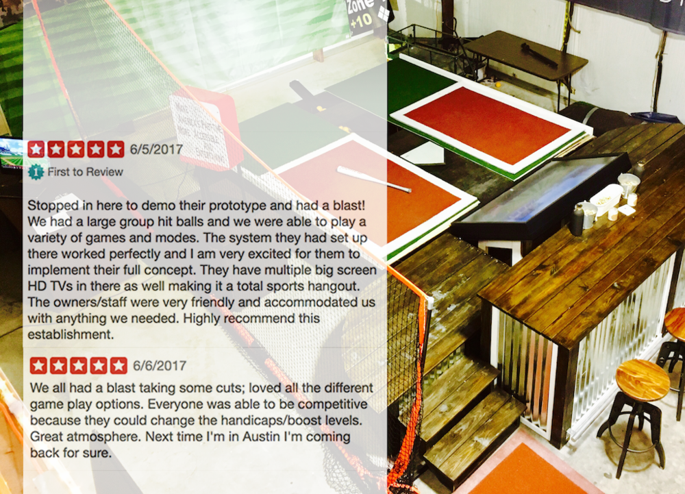 The Reviews Are In: - Home Run Dugout is a smash hit! See for yourself on Google, Facebook or Yelp.