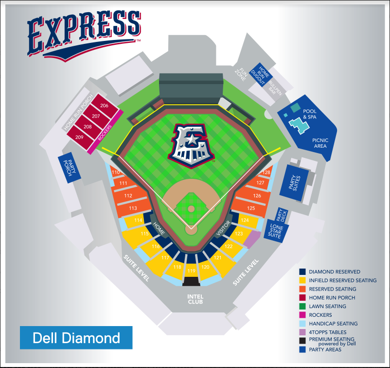 Located in right field of Dell Diamond