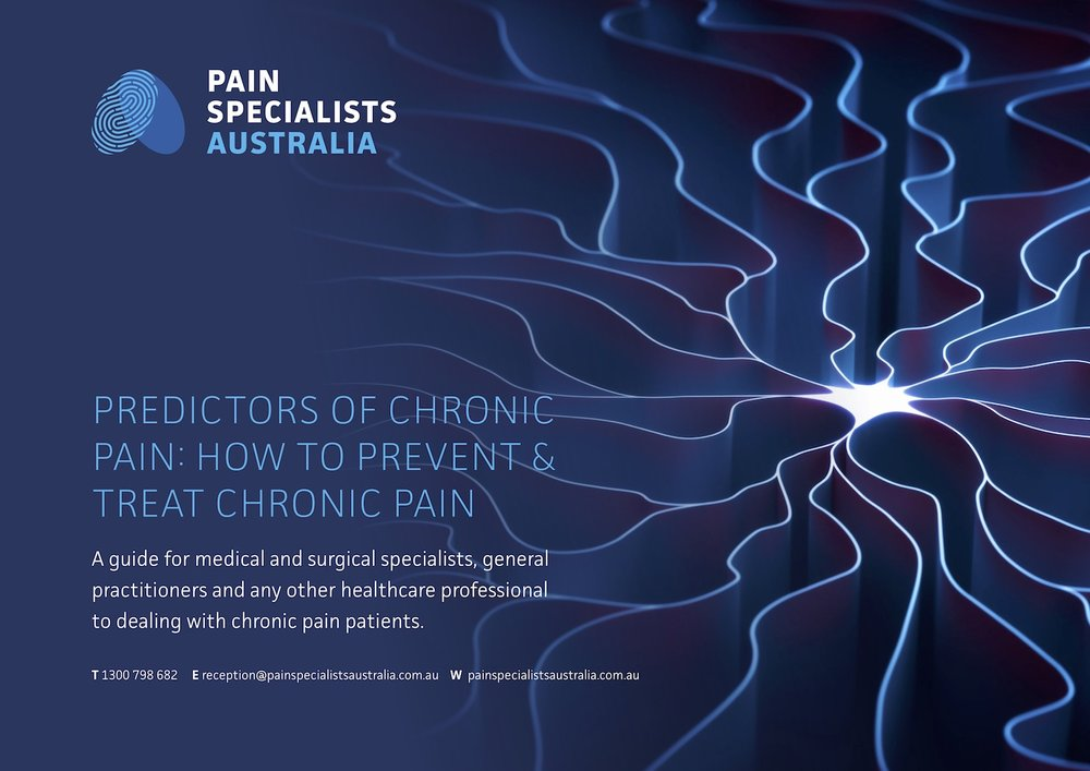 Pain Specialists Australia Pain Predictors eBook Cover jpg