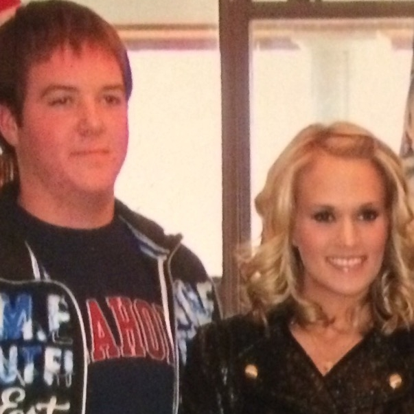 Jayme's husband with Carrie Underwood circa '08