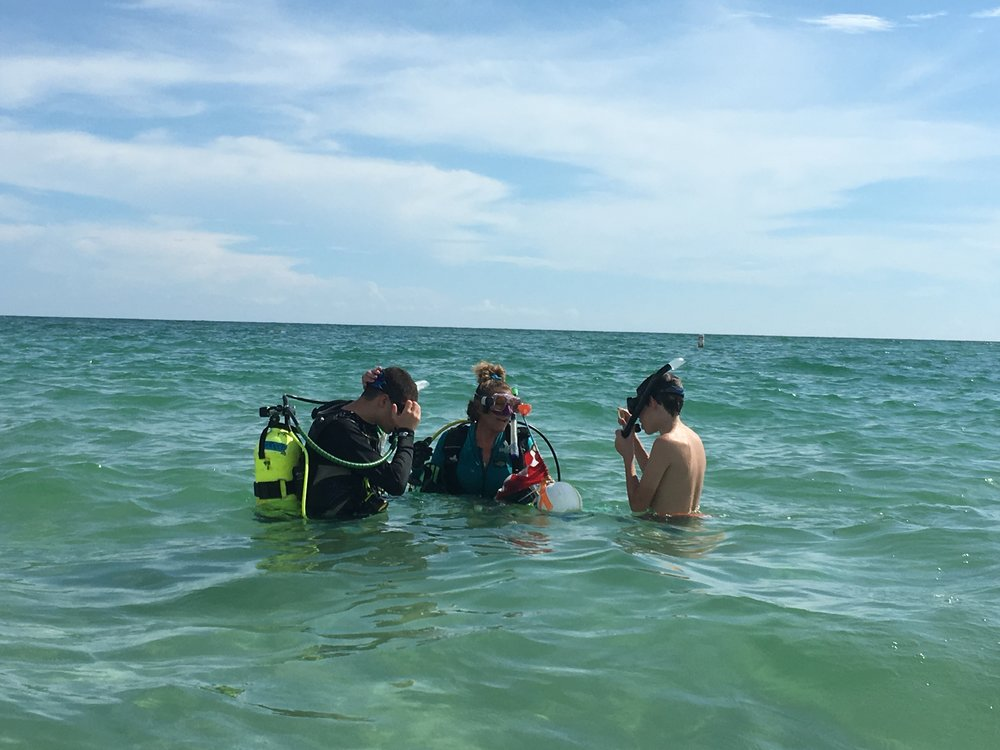 Nate and Jack Scuba Diving