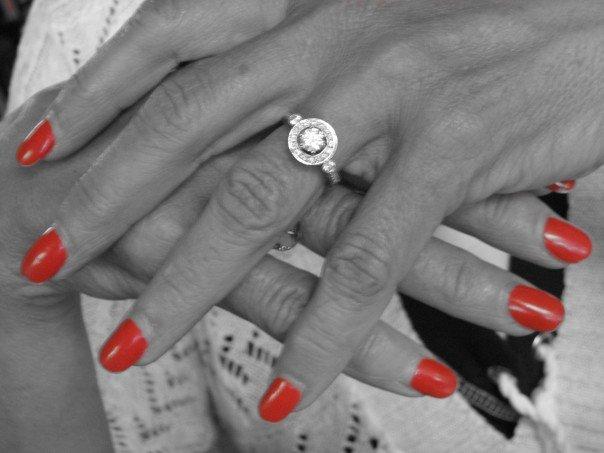 Her finger nails #cajunshrimp