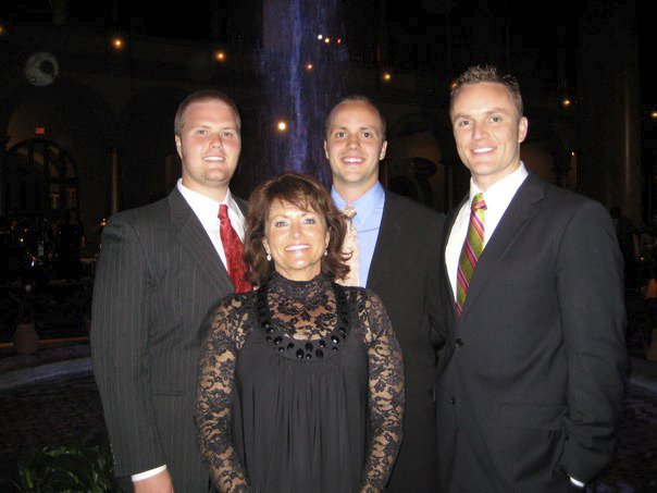 Brothers (Dan, Ben and Cliff) and Mom