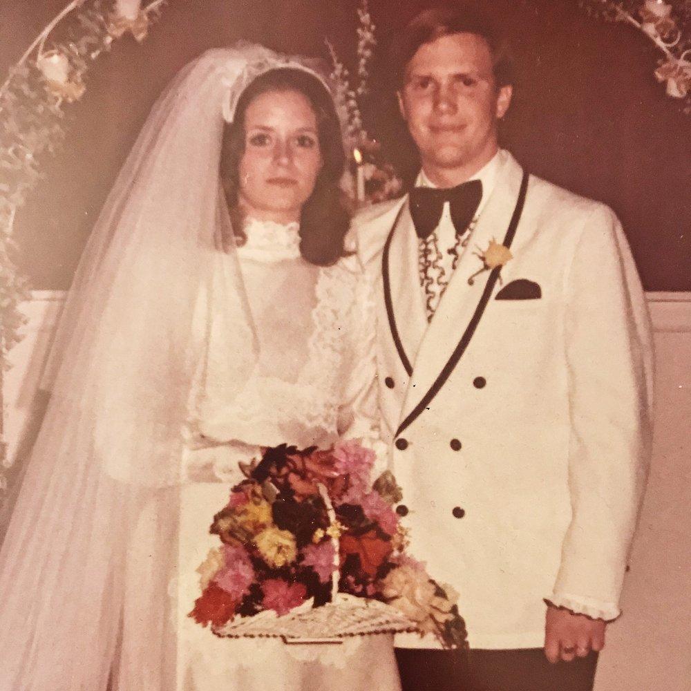 My parents' wedding!