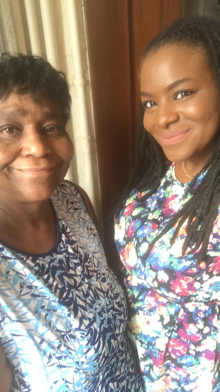 Moneek & her momma