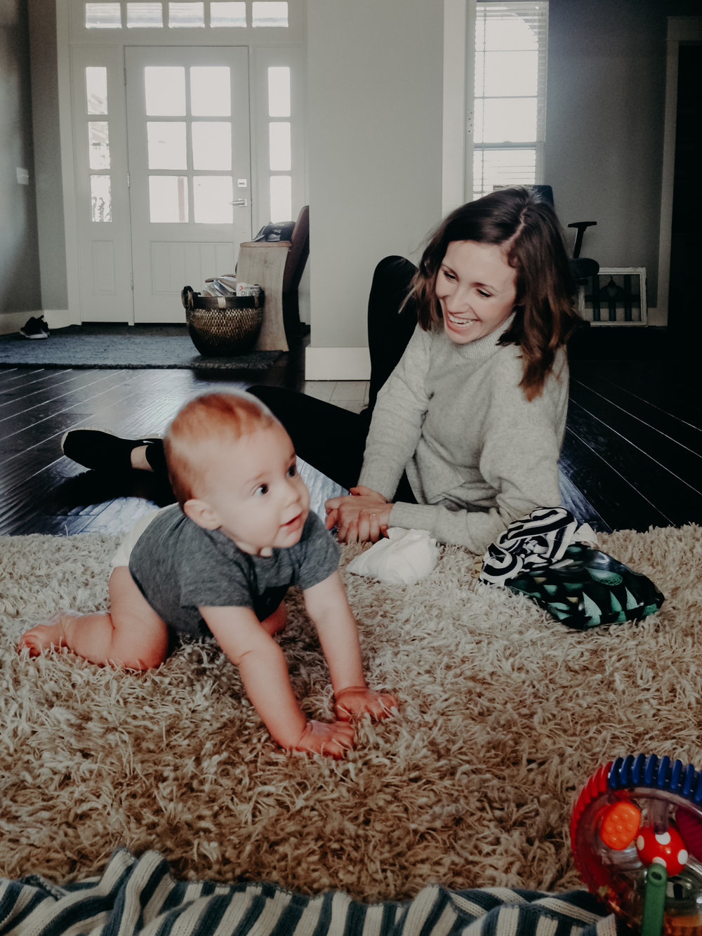 Jess with Baby Hawlander