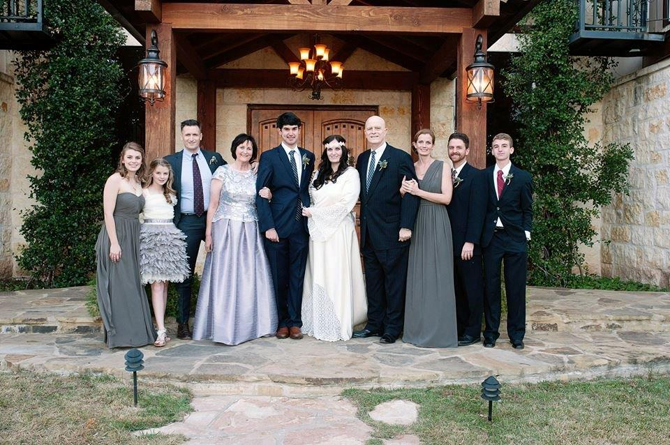 The whole family at her daughter's wedding