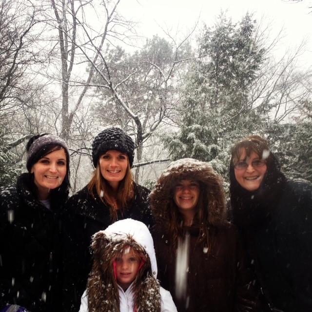 Karen's daughters and grandkiddos