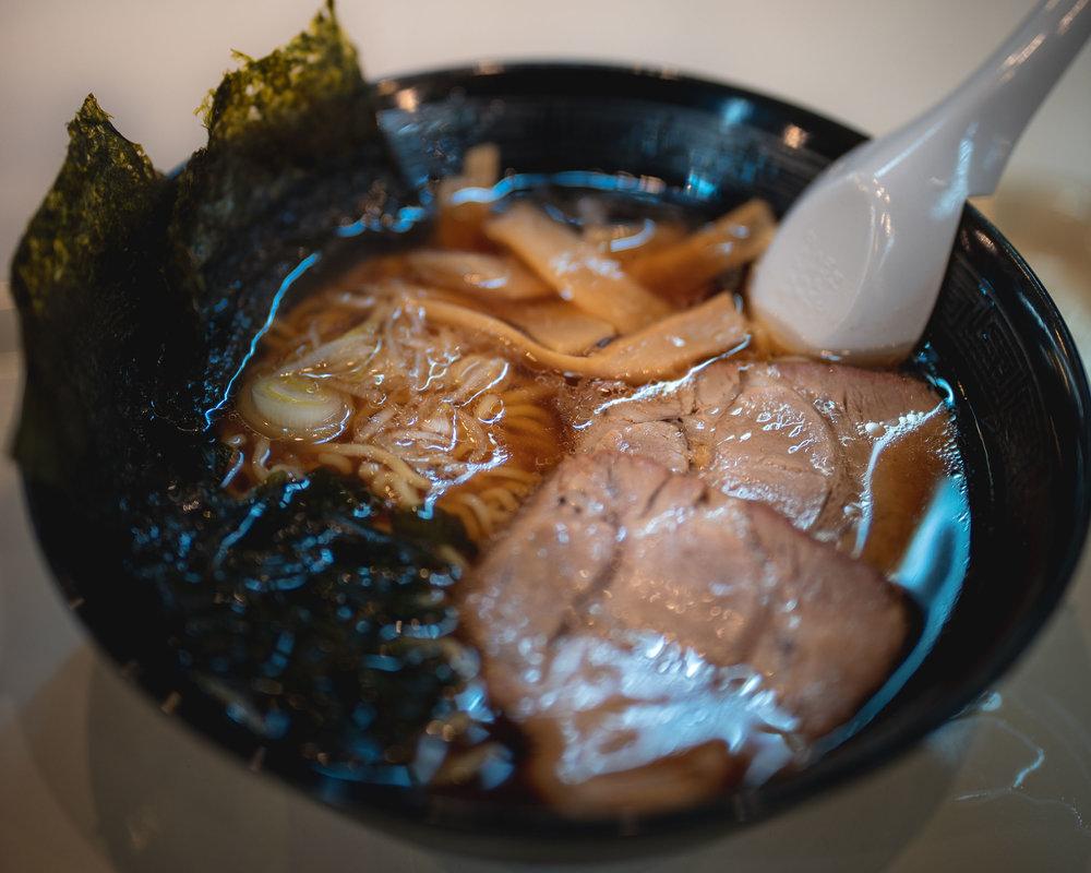 First meal - Matsushima Fish Market Ramen