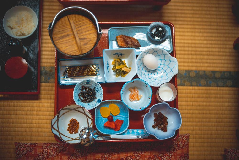 Breakfast at Ginzan Onsen