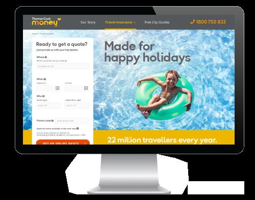 Thomas Cook website (Sponge Agency)
