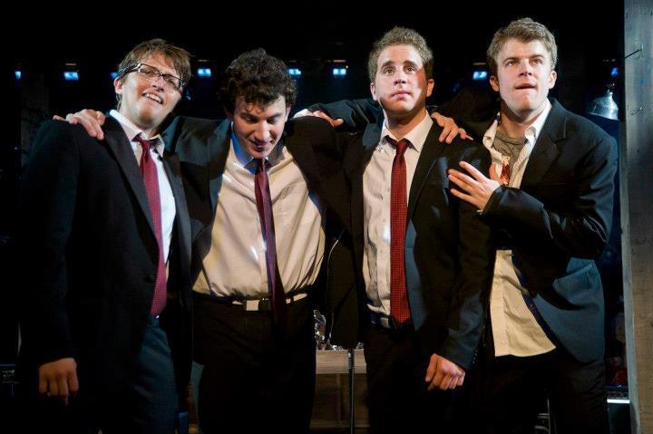 Will Roland, Harrison Chad, Ben Platt, Jason Hite; Barrington Stage Company (Kevin Sprague)