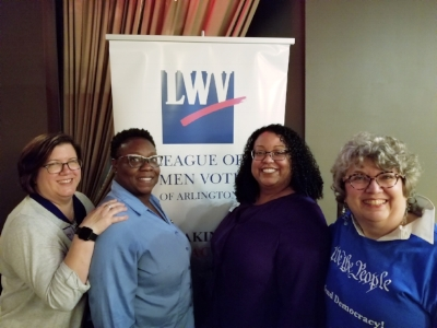 L-R: Carol Brooke, Lashawnda Singleton, Elizabeth Valderama Jones, and Joan Porte
