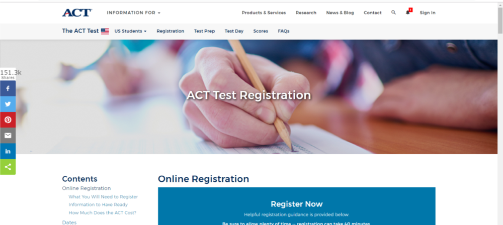 ACT Test Registration