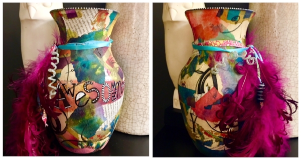 Here is the Awesomeness vase I made for myself a couple of years ago.