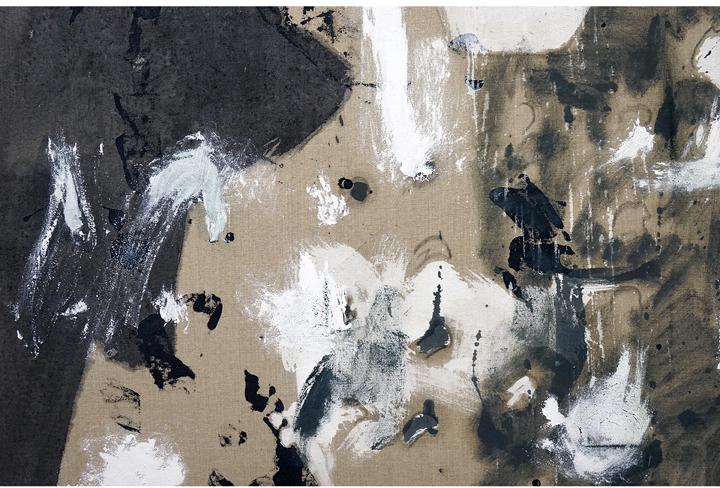 """ROSY KEYSER  (detail) Hinge Spigot , 2016, oil on linen, 88"""" x 70"""""""