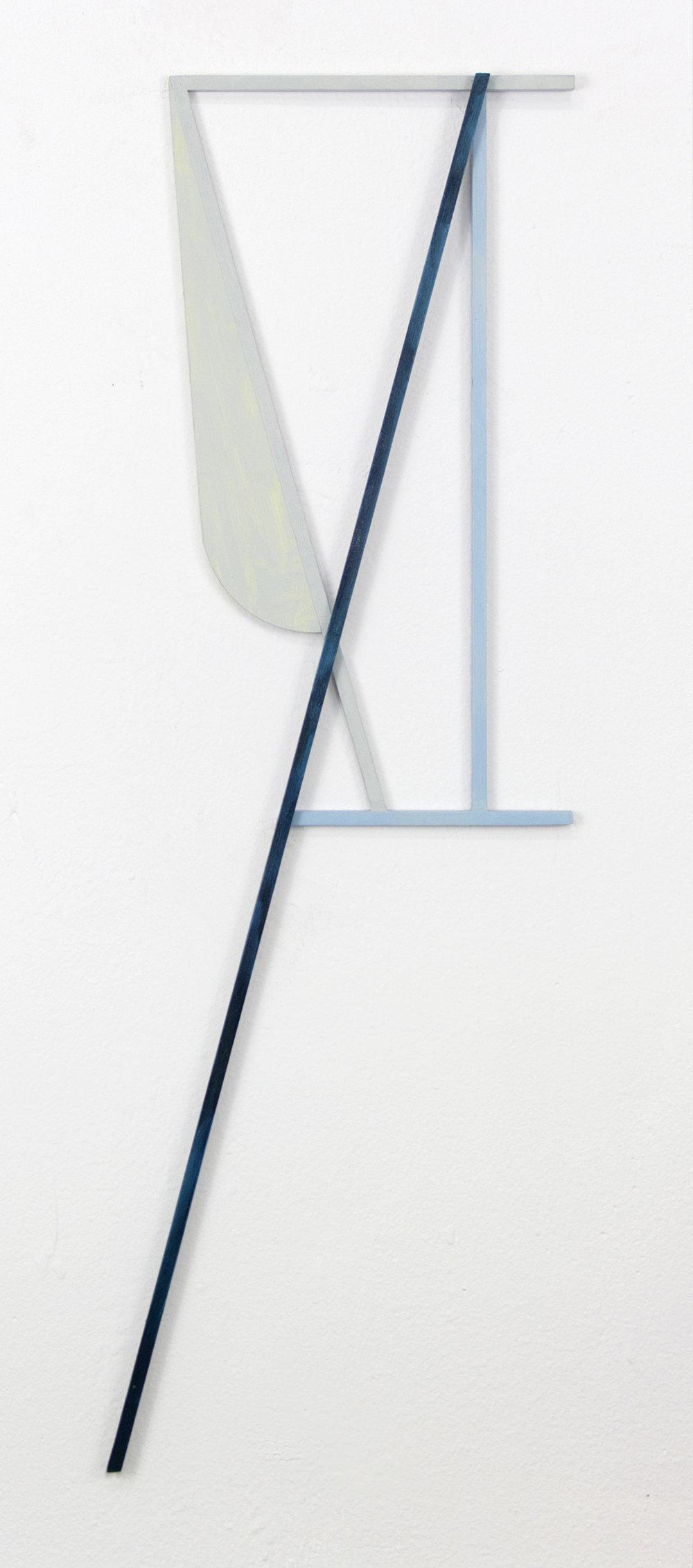 "JONATHAN RUNCIO   Untitled (JR02-17) , oil on steel, 25"" x 8.5"", 2017"
