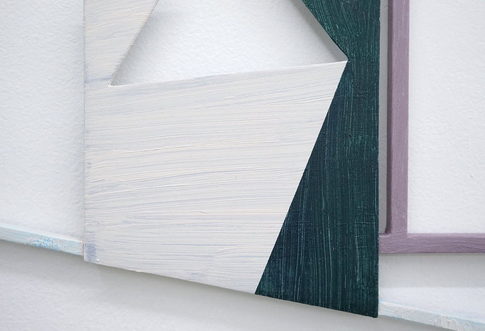 "JONATHAN RUNCIO  (detail) Untitled (JR01-17) , oil on steel, 13.5"" x 16.5"", 2017"
