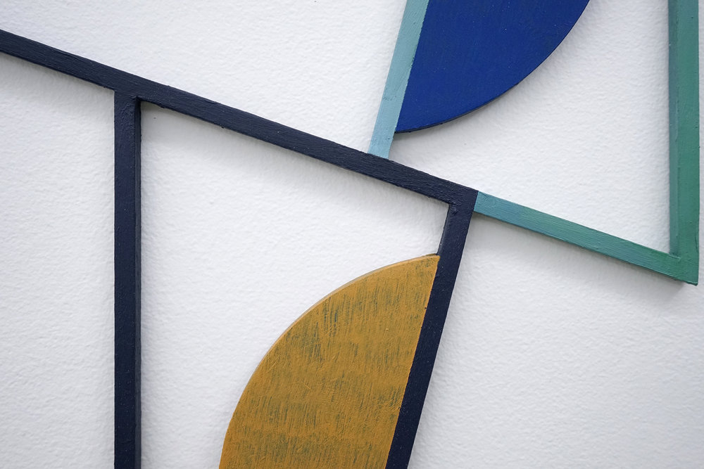 "JONATHAN RUNCIO  (detail) Untitled (JR04-17) , oil on steel, 15.5"" x 13.5"", 2017"