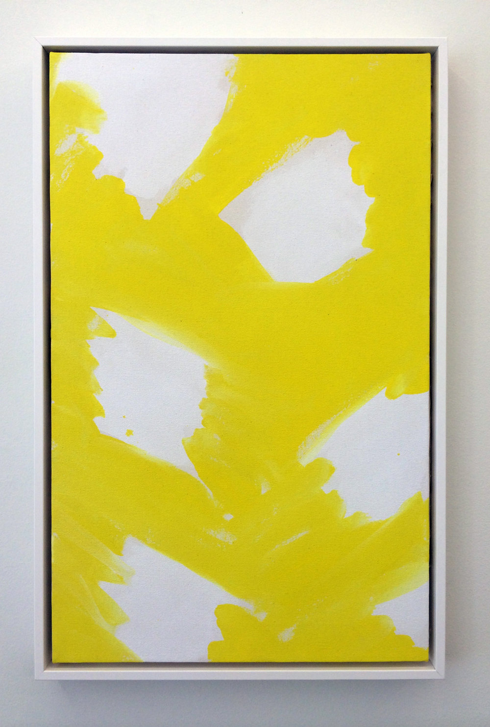 "AMANDA CURRERI   Calm Lunatics , 2014, acrylic and rabbit skin glue on canvas, 25"" x 16"""
