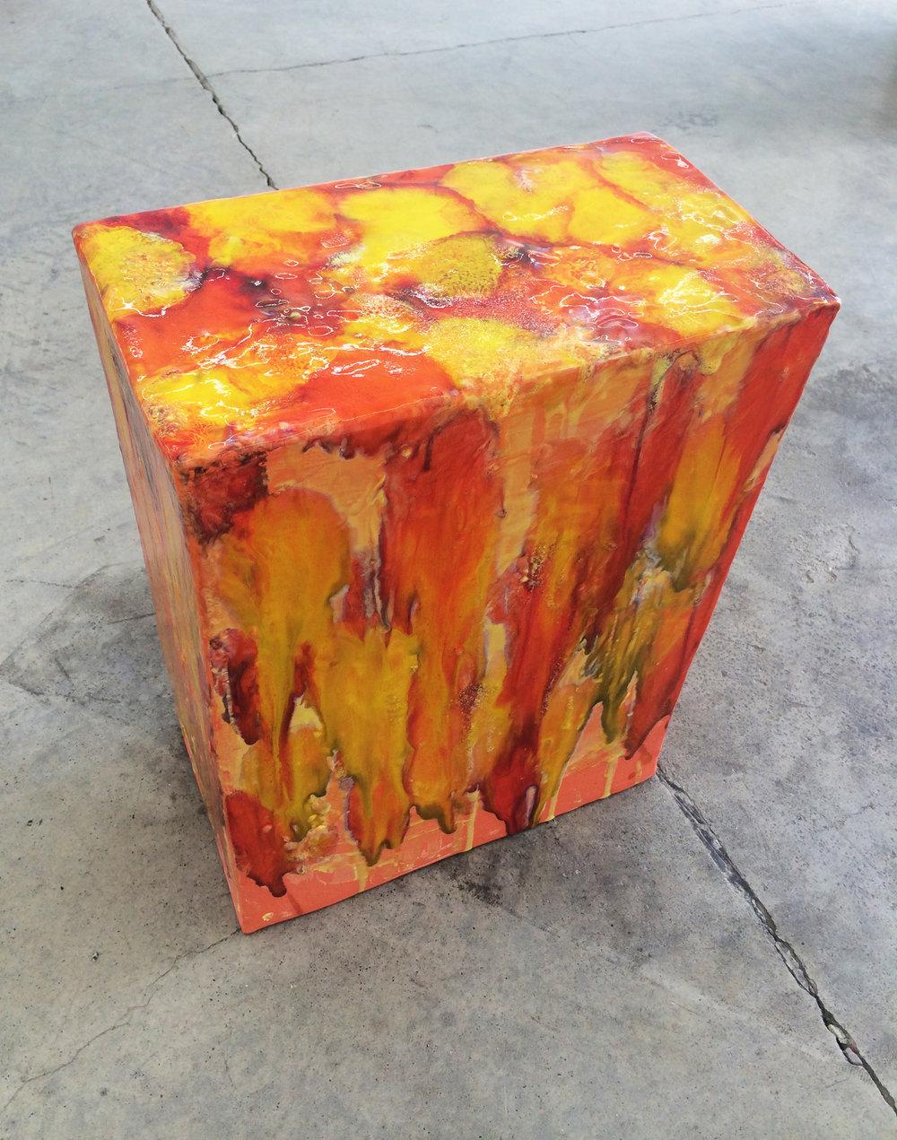"ERIK SCOLLON  (alternate view) Everybody's And, 2016, Stoneware, underglaze and glaze (5 firings), 19"" x 14"" x 8"""