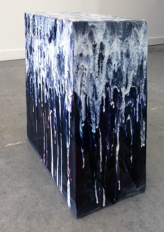 "ERIK SCOLLON   Queer Sculpture Park (a proposal), 2016, Stoneware, underglaze and glaze (6 firings), 19"" x 14"" x 8"""