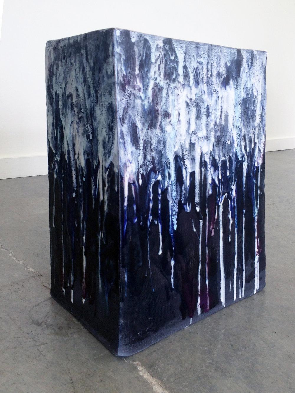 "ERIK SCOLLON  (alternate view) Queer Sculpture Park (a proposal), 2016, Stoneware, underglaze and glaze (6 firings), 19"" x 14"" x 8"""