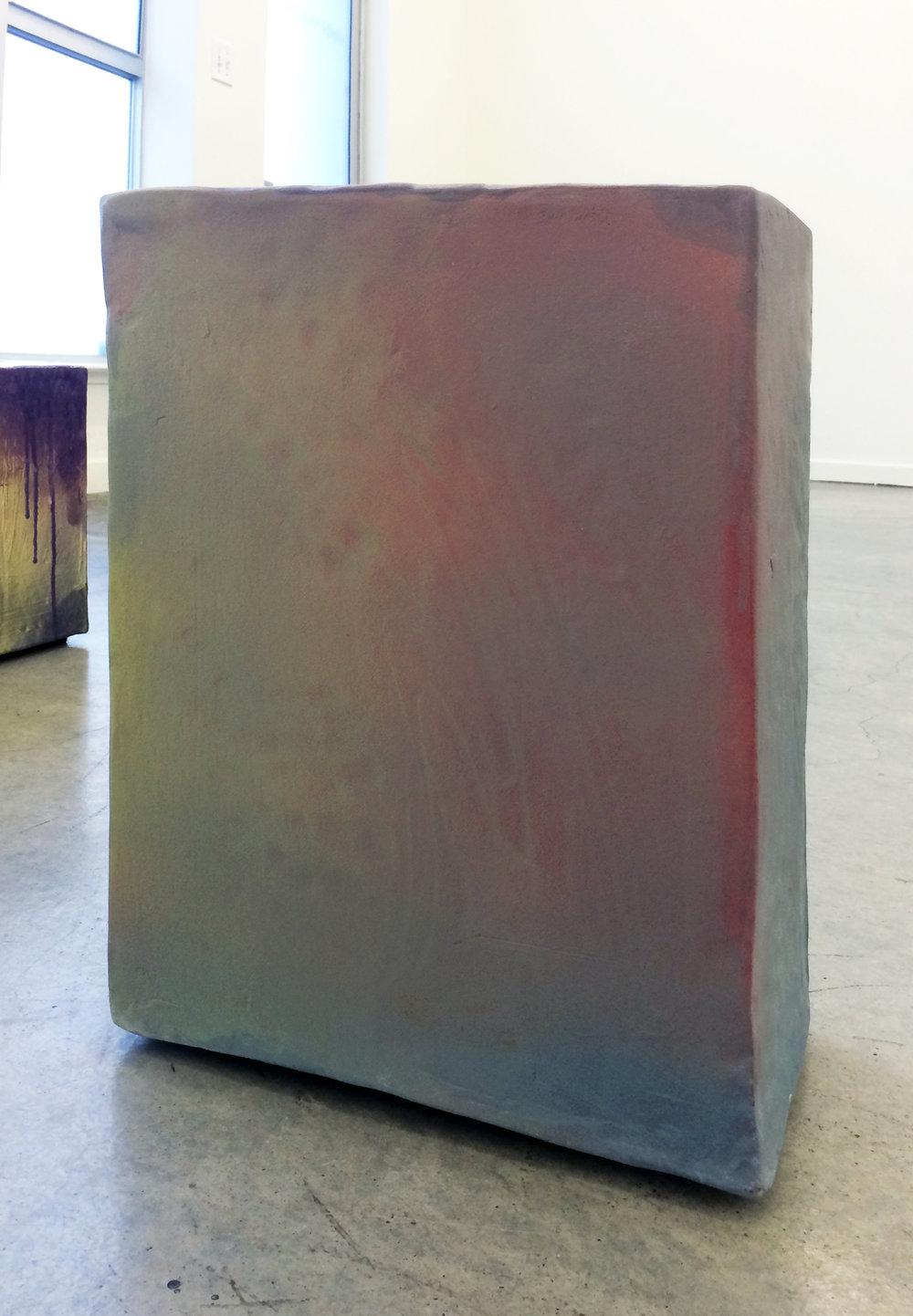 "ERIK SCOLLON  (alternate view) Standard Unit, 2016, Stoneware, underglaze and glaze (2 firings), 19"" x 14"" x 8"""