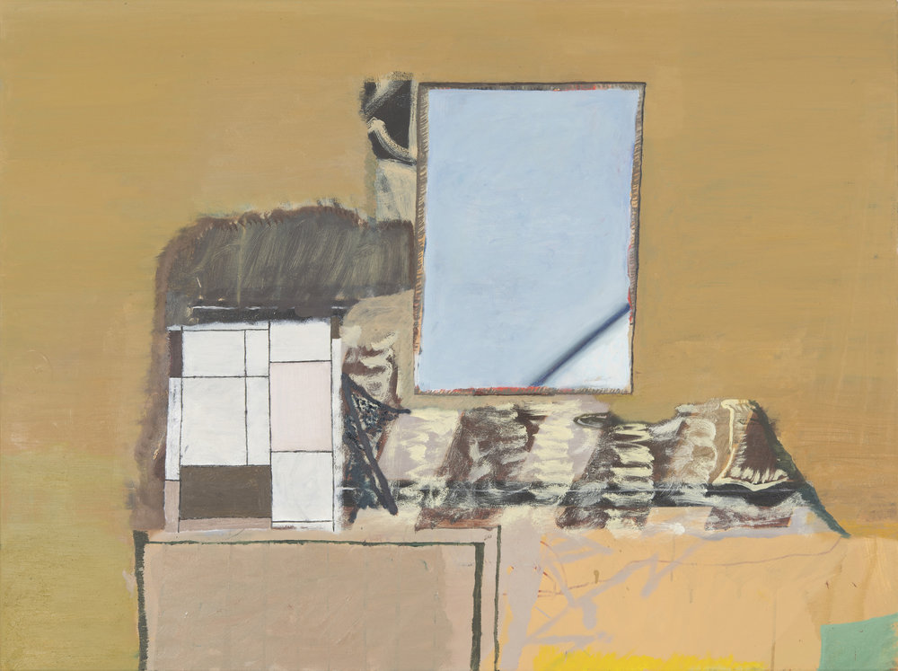 "CHRISTOPH ROßNER   Haufen (Pile) , 2014, oil and acrylic on canvas, 46.5"" x 35.5"""
