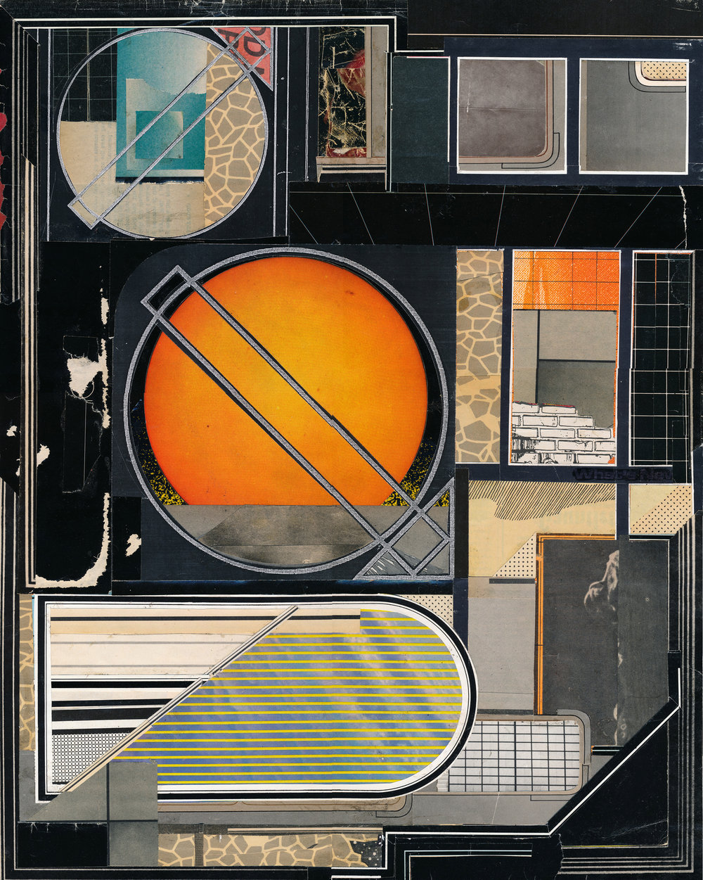 "GWENAËL RATTKE   The Osaka Resolution , collage on paper, 22.5"" x 18.5"", 2014"