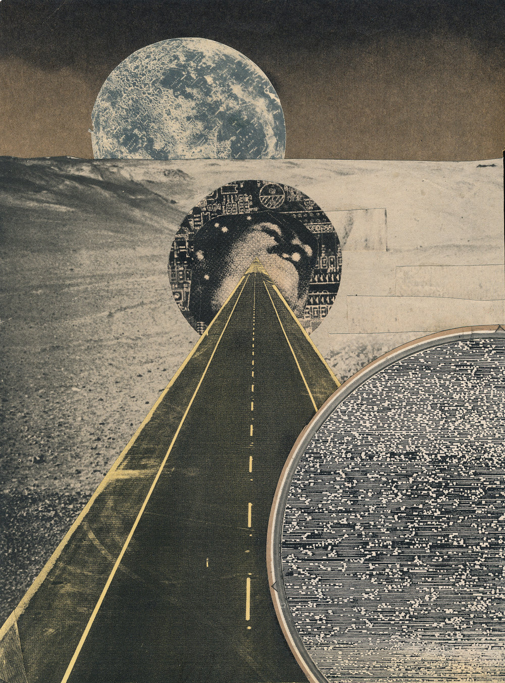 "GWENAËL RATTKE   To Be Zero , collage on paper, 13.25"" x 10.75"", 2014"