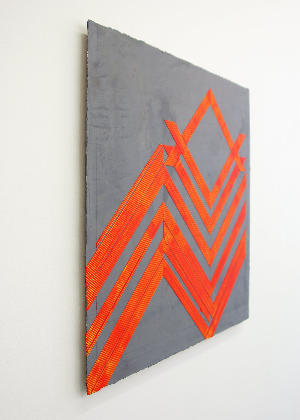 "ELISE FERGUSON  (3/4 view)  N V V , pigmented plaster on MDF panel, 30"" x 30"", 2014"