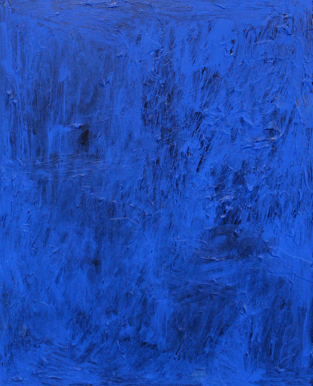 "JOSEPH HART   Untitled (Blueberry) , acrylic on panel, 20"" x 16"", 2013"