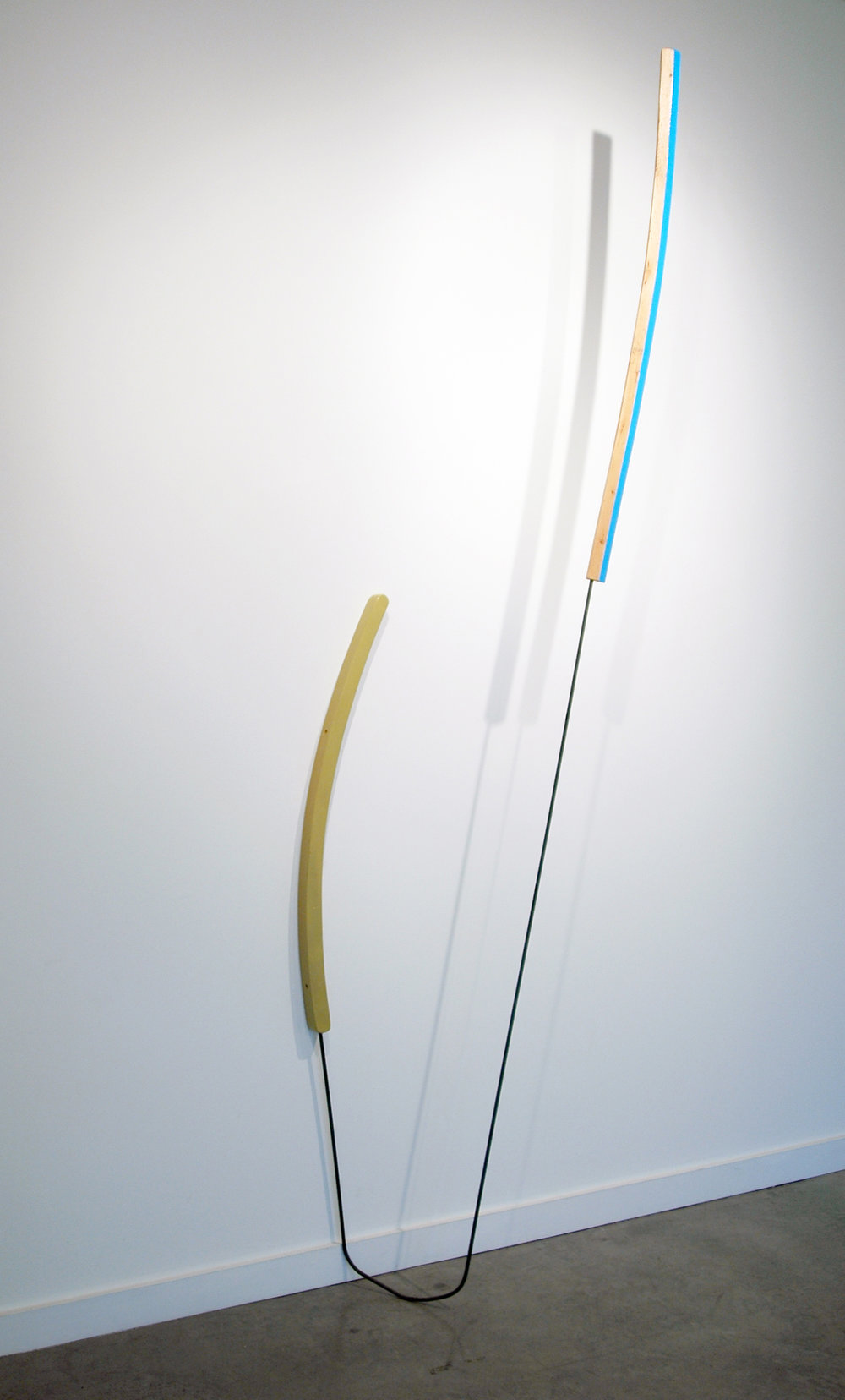 "KIRK STOLLER   Untitled (prong) , wood, acrylic, metal and resin, 103"" H x 26"" W x 14"" D"