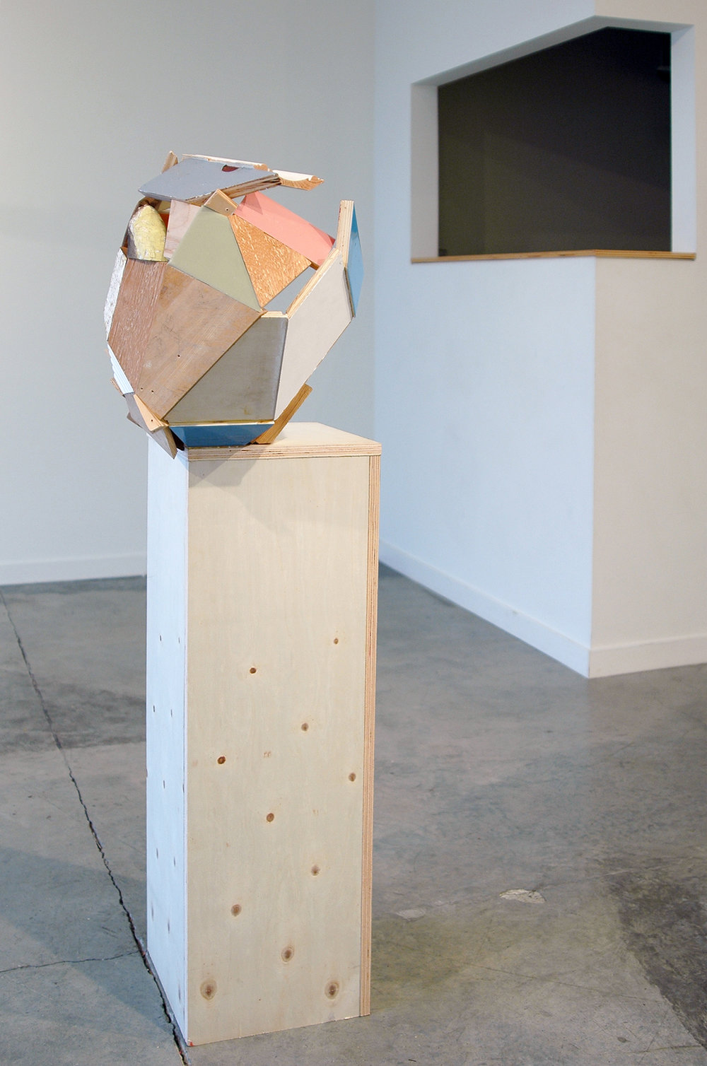 "KIRK STOLLER   Untitled (ledge) , wood, acrylic and resin, 52"" x 19.5"" x 16.5"""