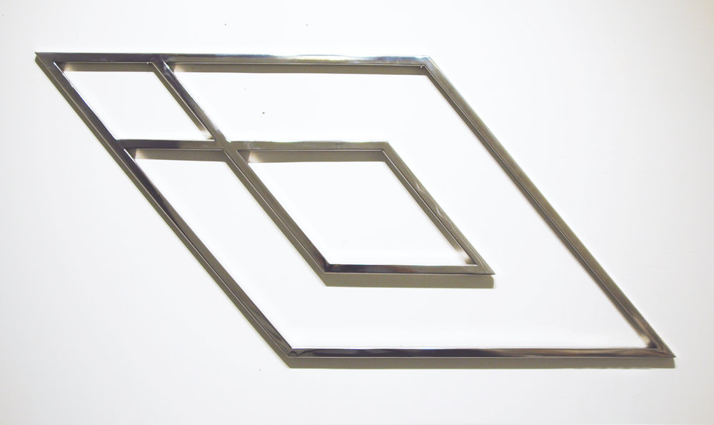 "JONATHAN RUNCIO   Untitled , polished stainless steel, 48"" x 21.5"", 2013"