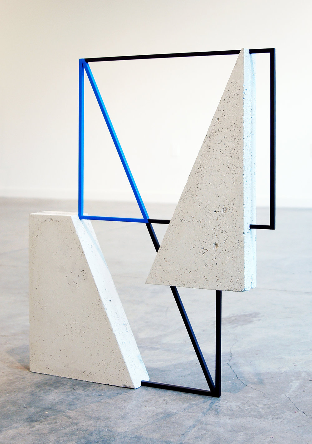 "JONATHAN RUNCIO   Untitled , concrete, steel, primer and enamel, 31.5"" x 25"" x 2.5"", 2013"