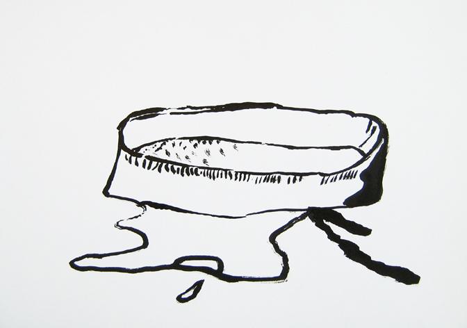 "CHRISTOPH ROßNER   Untitled , india ink on paper, 8.25"" x11.75"", 2011"