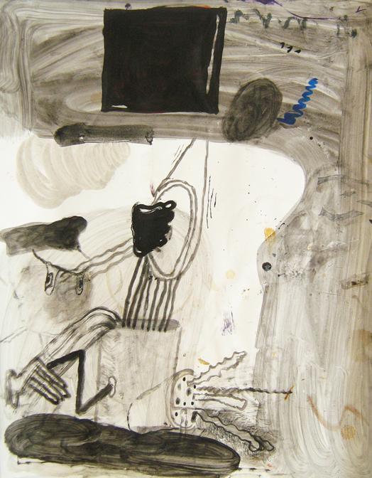 "CHRISTOPH ROßNER   Untitled , india ink on paper, 18.5"" x 15.5"", 2012"