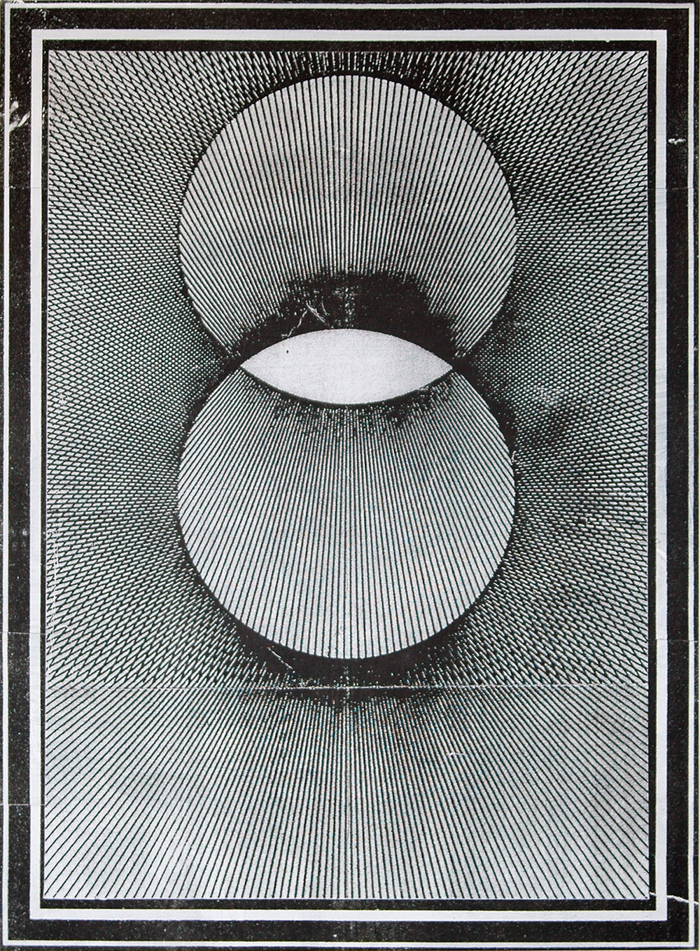 "GWENAËL RATTKE   Projections II (black & white) , 2012, acrylic silkscreen on canvas with hand working, 49"" x 35.5"""