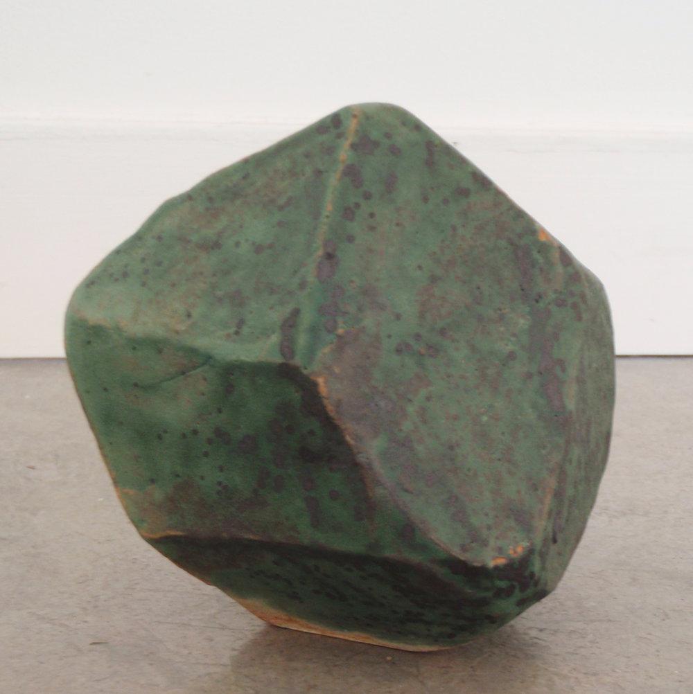 """ANNA SEW HOY   verte/lichen , fired stoneware, 4"""" x 3.5"""" x 3.75"""", 2012"""