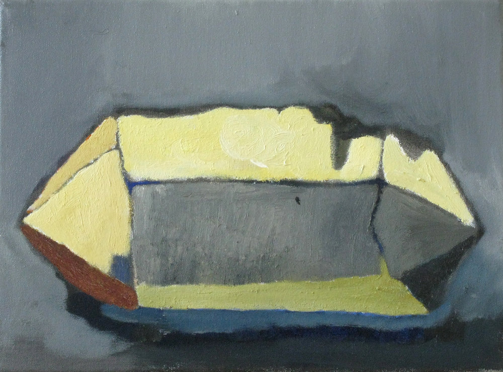"CHRISTOPH ROßNER   Stone,  oil on canvas, 10.25"" x 13.75"", 2009"