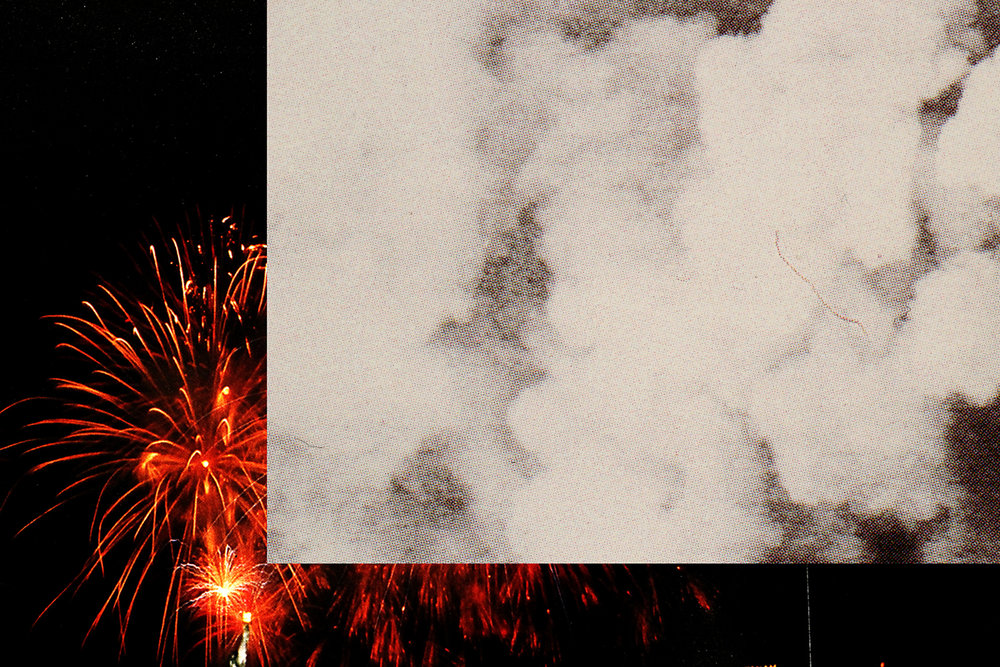 "PABLO GUARDIOLA   Missed Fireworks 1 , 2013, digital c-print, edition of 3 + 2AP, 28"" x 42"""