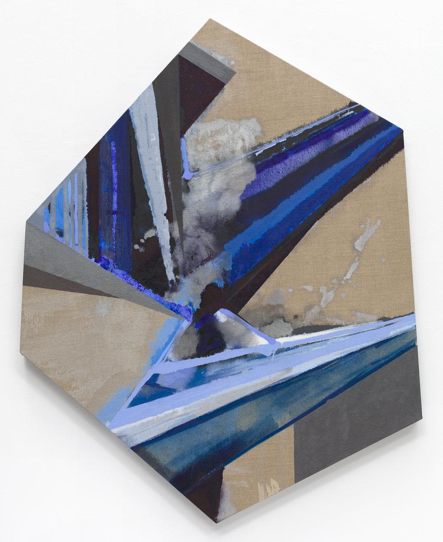 """PAMELA JORDEN   Crane , oil on linen, 59.5"""" x 47.5"""", 2017"""