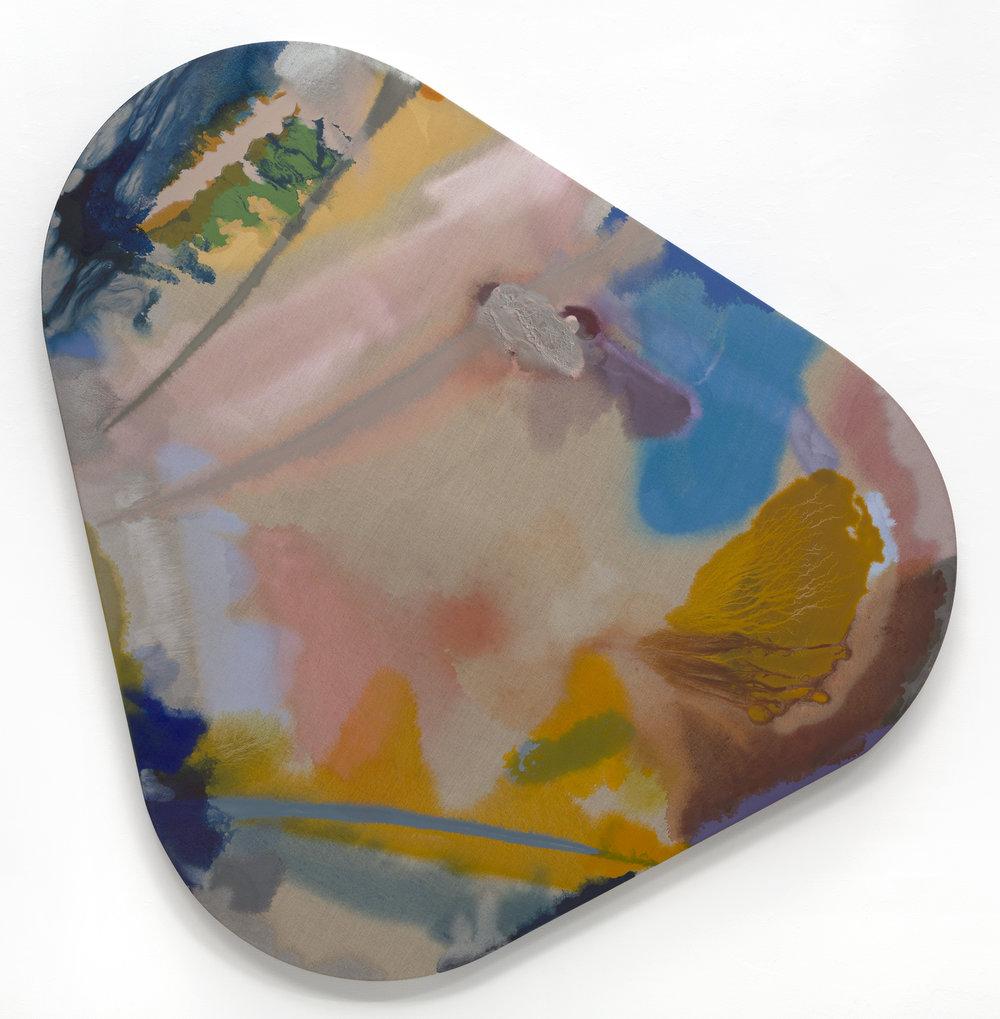 """PAMELA JORDEN  Expanded Circle , oil on linen, 61.5"""" x 60"""", 2017"""