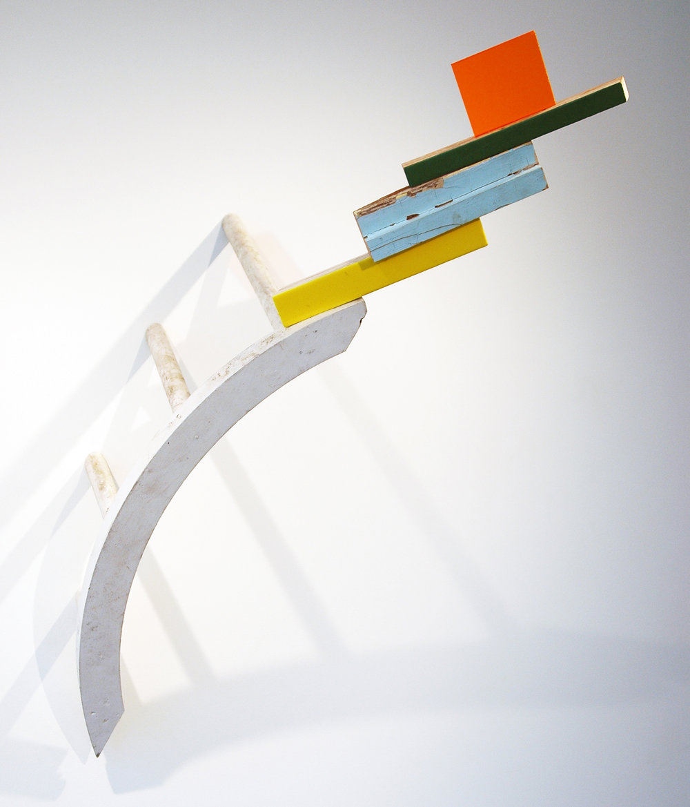 "KIRK STOLLER  Untitled (rainbow), wood, acrylic, plexiglass and resin, 29"" x 24"" x 42"""