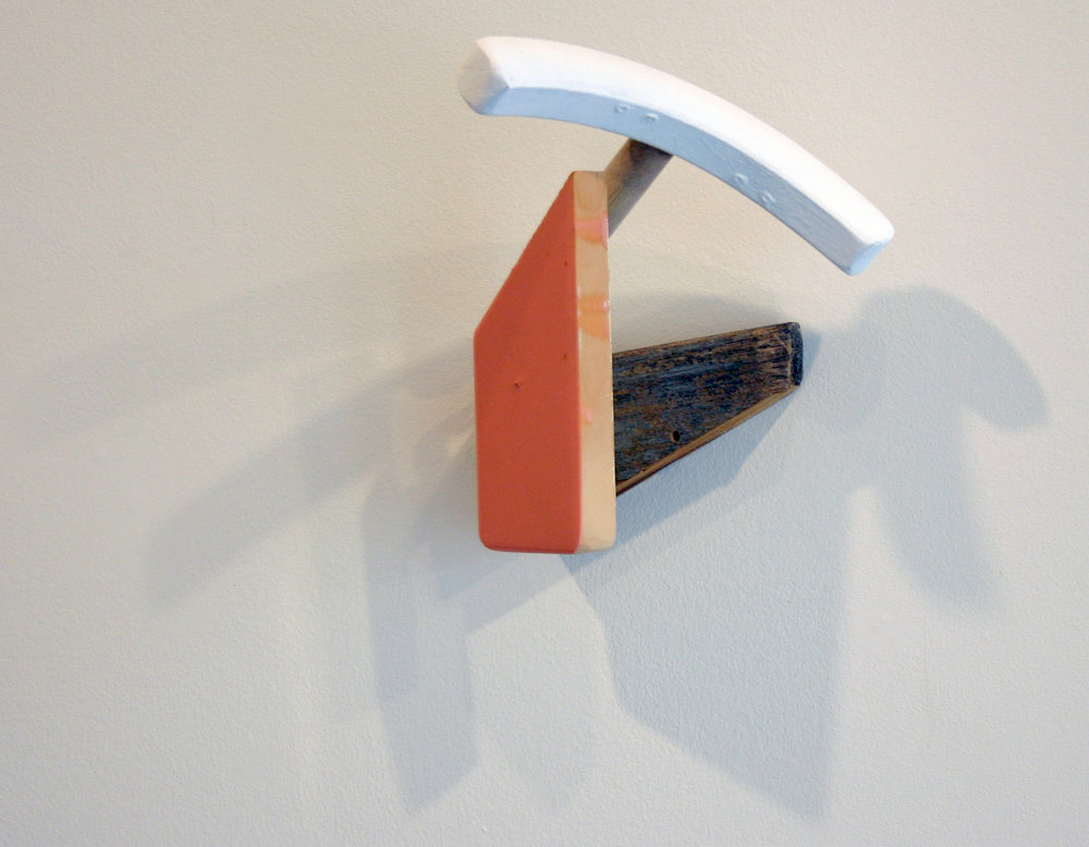 "KIRK STOLLER   Untitled (crescent),  wood, paint and resin, 8.5"" x 7"" x 6.25"", 2011"