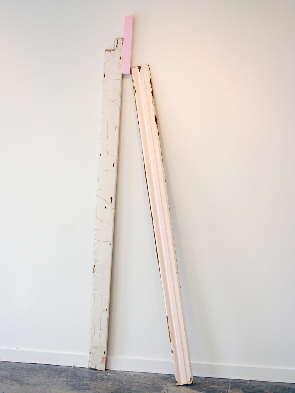 "KIRK STOLLER   Untitled (trapezoid),  wood and foam, 82.75"" x 27"" x 6"", 2011"